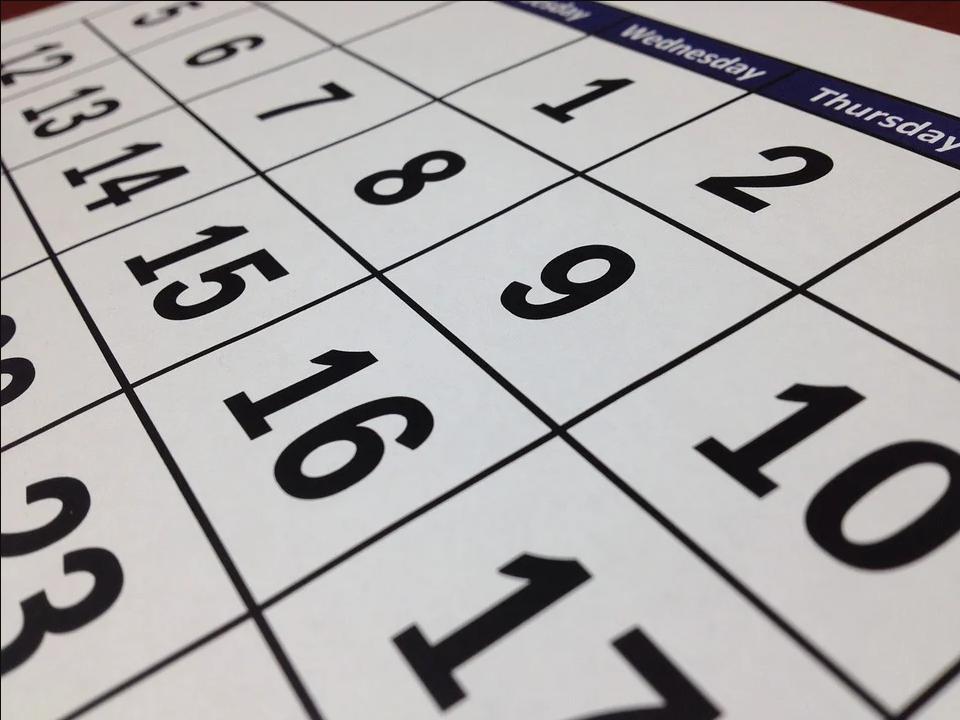 Calendar - FE Exam Tips